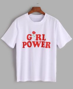 Girl Power Print T-shirt ZK01