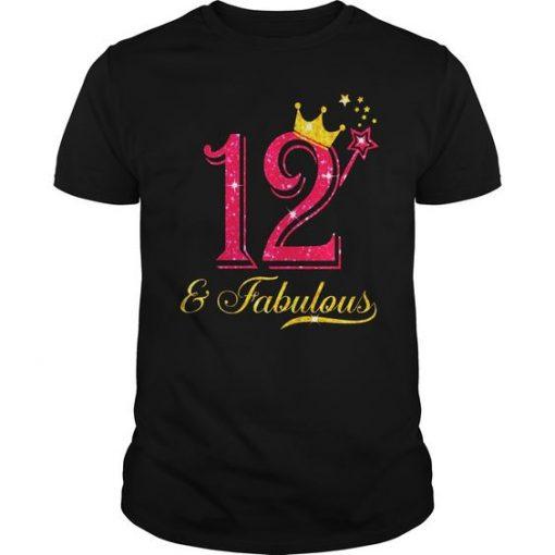 12th Birthday Girl Fabulous T-Shirt EL01