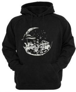 Alien on the moon hoodie SR29N