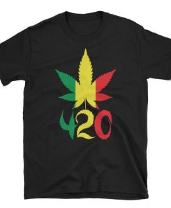 420 Rasta Leaf Tshirt EL18D