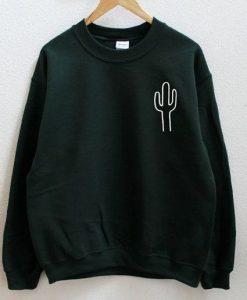 Cactus Dark Green Sweatshirt VL21D