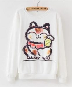 Cute Cat Rainbow Sweatshirt FD7F0