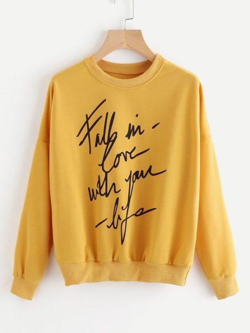 FALL IN LOVE Sweatshirt FD7F0
