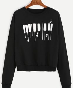Piano Keyboard Sweatshirt FD7F0